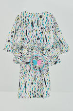 Tiered Frill Kurung (Printed) -Watercolor(white)