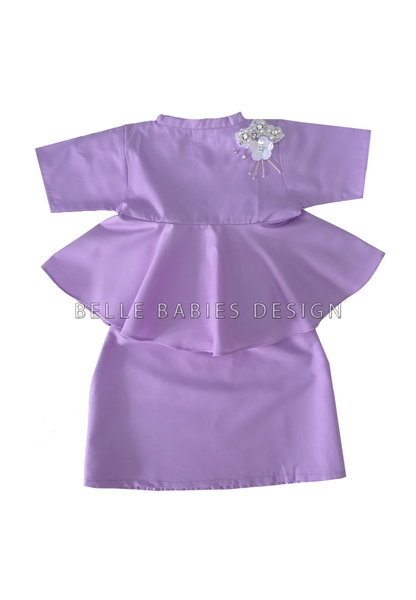 BBD High Neck Kurung - Lilac
