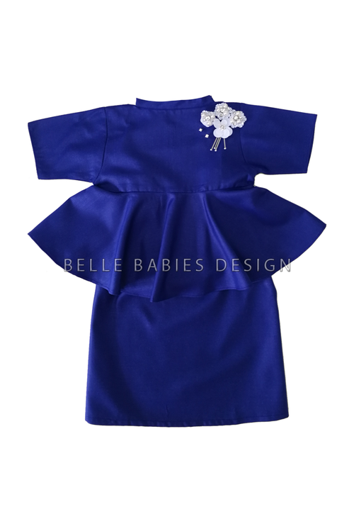 BBD High Neck Kurung - Royal Blue