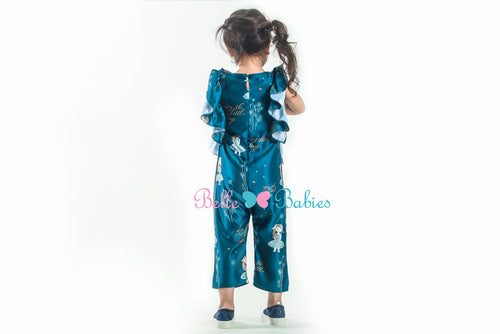 BBD Ruffled Jumpsuit (Teal Blue)