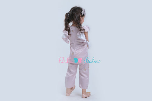 BBD Ruffled Jumpsuit (Rose Gold)