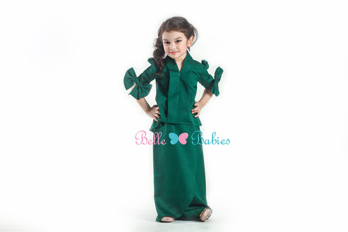 BBD Short Top Kebaya (Emerald Green)