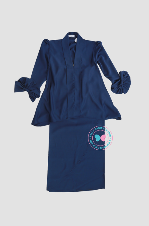 BBD Short-Top Kebaya (Teens) - Navy Blue