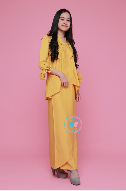 BBD Short-Top Kebaya (Teens) - Mustard Yellow