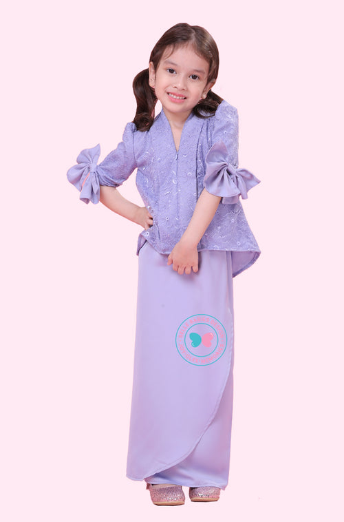 BBD Short Top Kebaya (Lace) - Periwinkle Purple