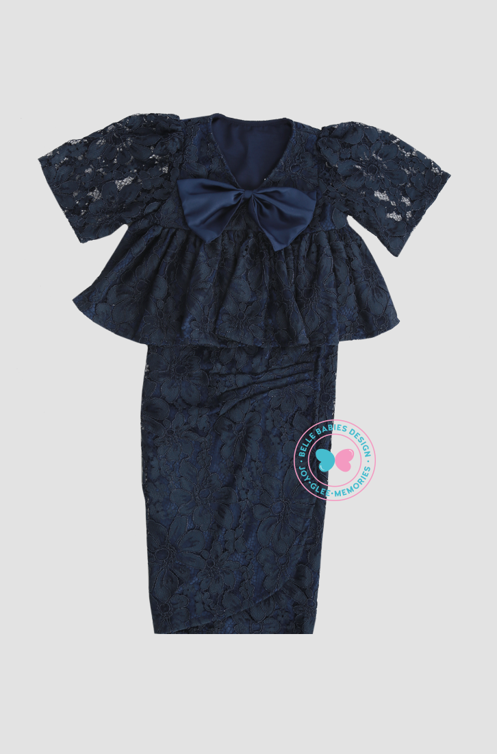 BBD Bareback with Bow (Lace) - Navy Blue
