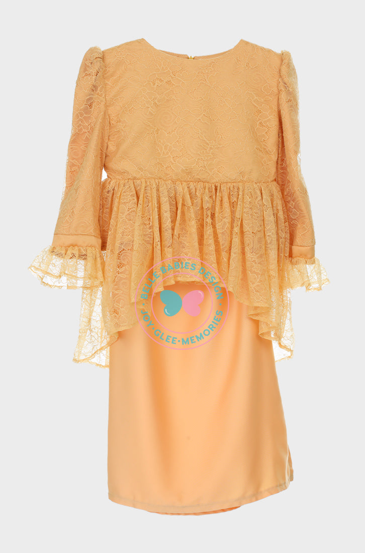 BBD Scallop Peplum Lace (Mustard Yellow)
