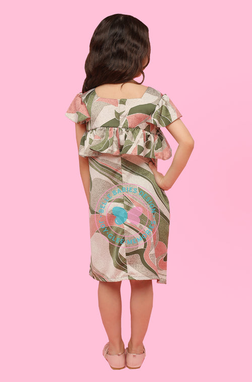 BBD Dress Batik - Olive Green (abstract)