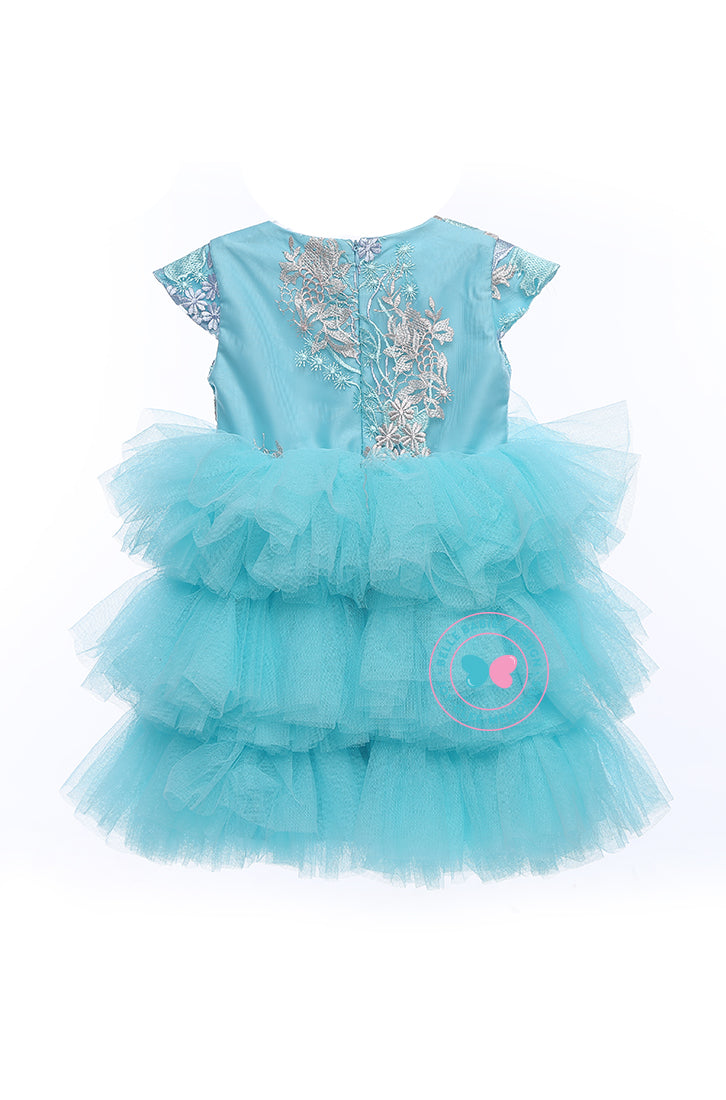 BBD (Luxe)  3-Tiered Tutu Dress - Aqua Blue