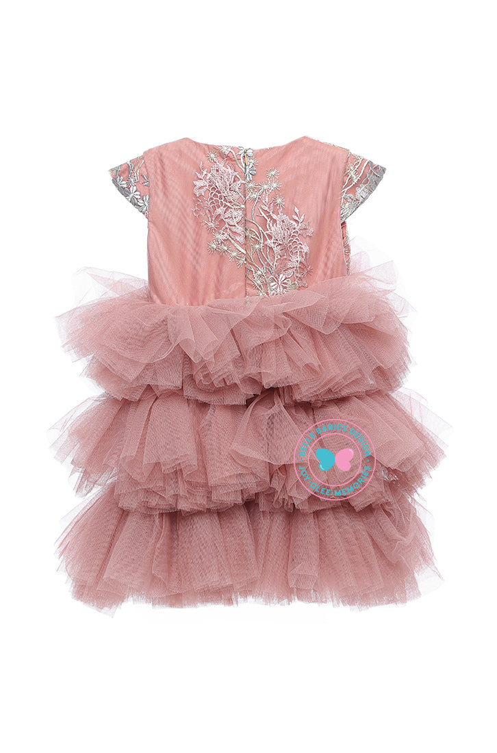 BBD (Luxe)  3-Tiered Tutu Dress - Dusty Salmon