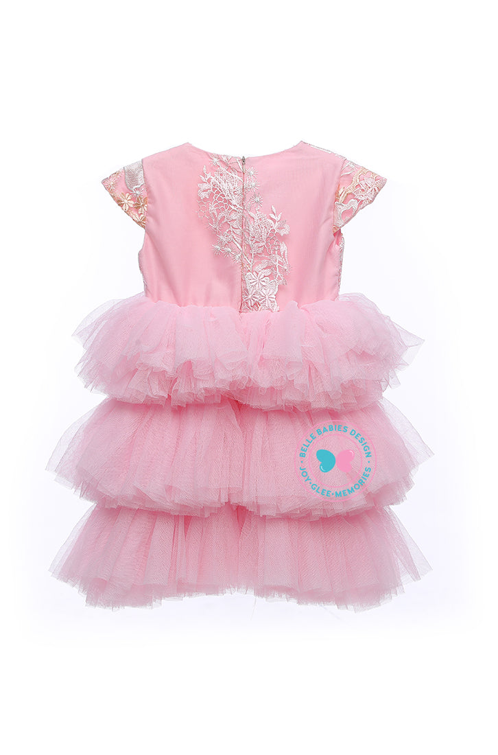 BBD (Luxe)  3-Tiered Tutu Dress - Baby Pink