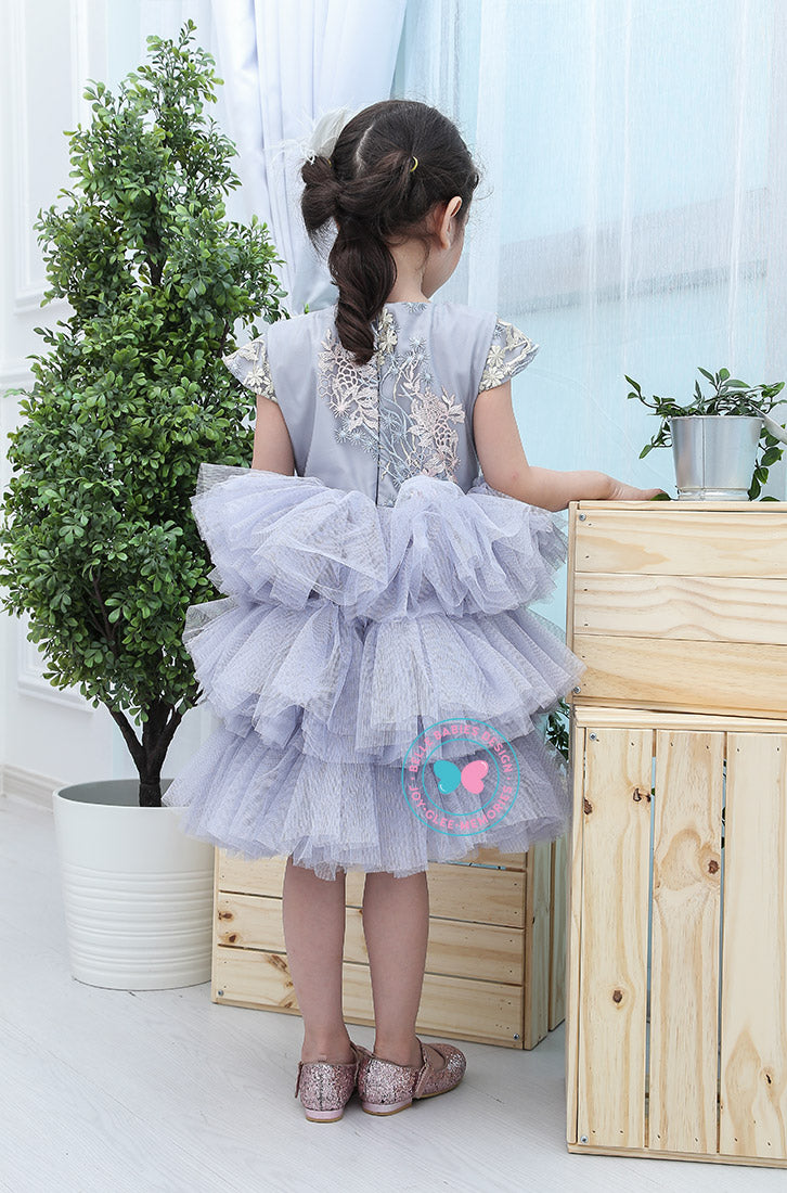 BBD (Luxe)  3-Tiered Tutu Dress - Lilac Grey