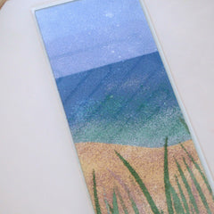 Complete panel with sea grasses ready for the kiln