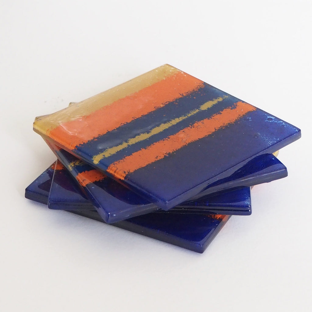 Coasters - Mexico Fused Glass Drinks Coasters