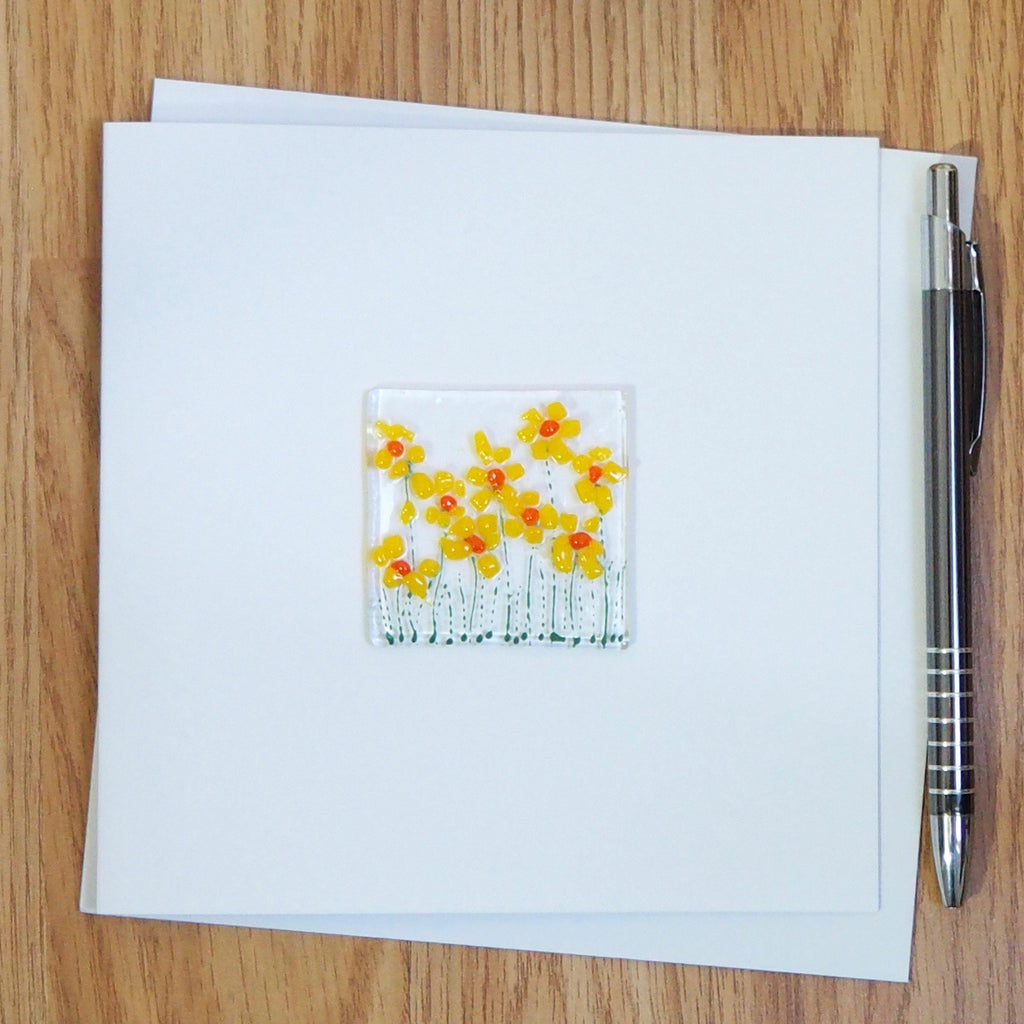 Daffodils greetings card - Fired Creations