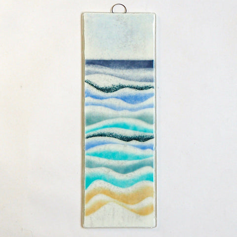 Fused Glass Wall Art - Fused Glass Art - Abstract Seascape