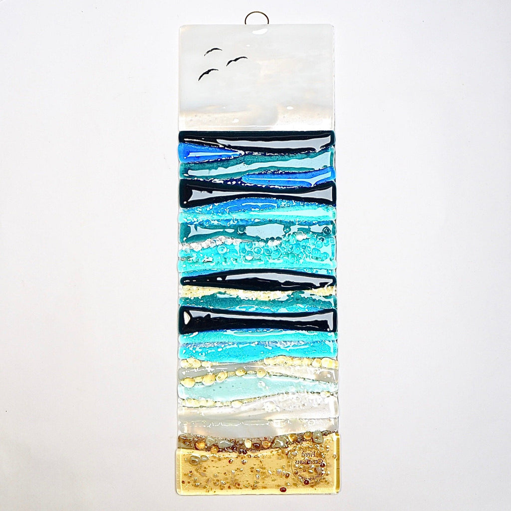 Fused glass art - seascape - Fired Creations