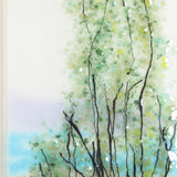 Fused Glass Wall Art - Fused Glass Wall Art Panel - Landscape With Trees
