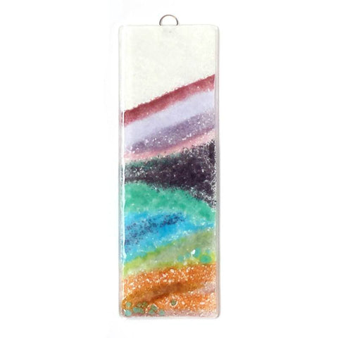 Heather covered hills fused glass art - Fired Creations