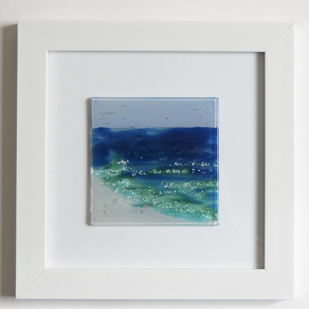 Fused Glass Wall Art - Seascape Glass Art Picture