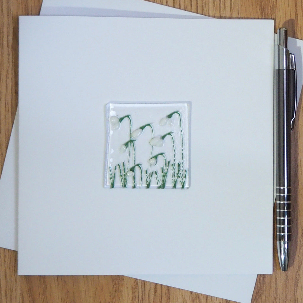 Snowdrops greetings card - Fired Creations