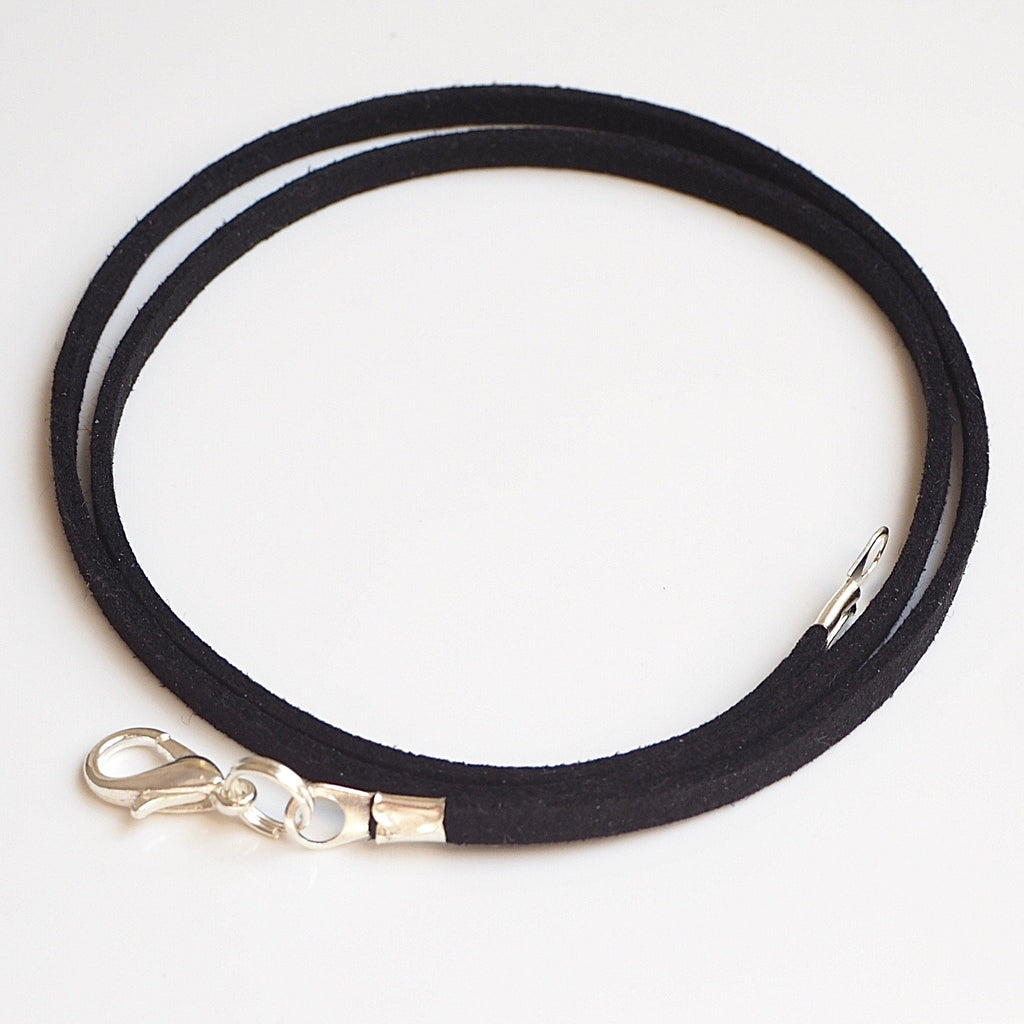 Synthetic Suede Necklace Cord - Black