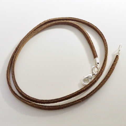 Synthetic Suede Necklace Cord - Brown