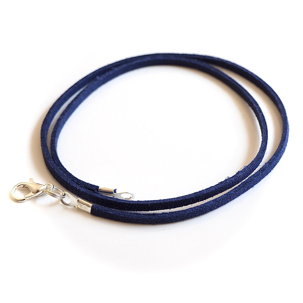Synthetic suede necklace cord - navy blue - Fired Creations
