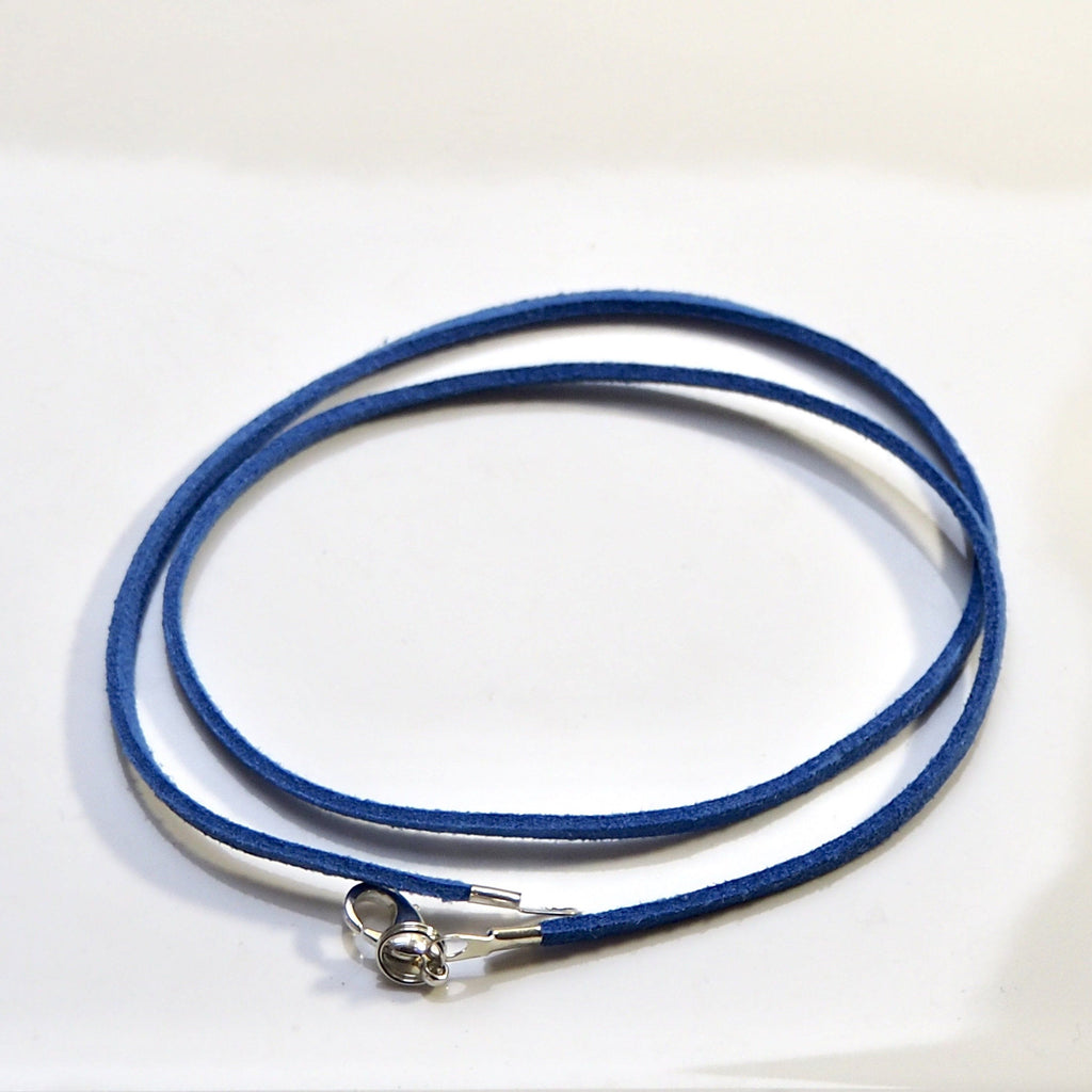 Synthetic Suede Necklace Cord - Sapphire Blue