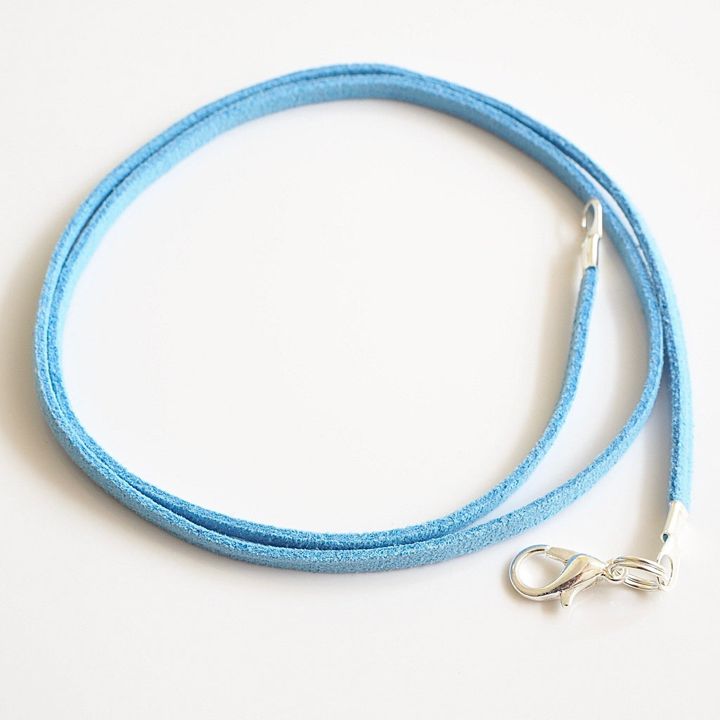 Synthetic suede necklace cord - sky blue - Fired Creations