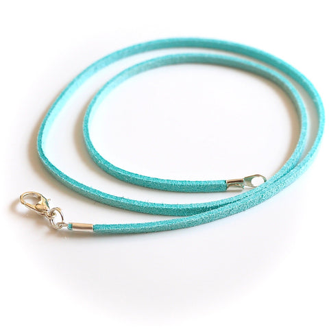 Synthetic suede necklace cord - turquoise - Fired Creations