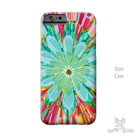 Big Blue Flower - iPhone Case