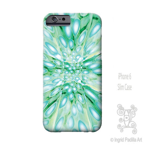 Imagine Blue iPhone Case - Art by Ingrid Padilla