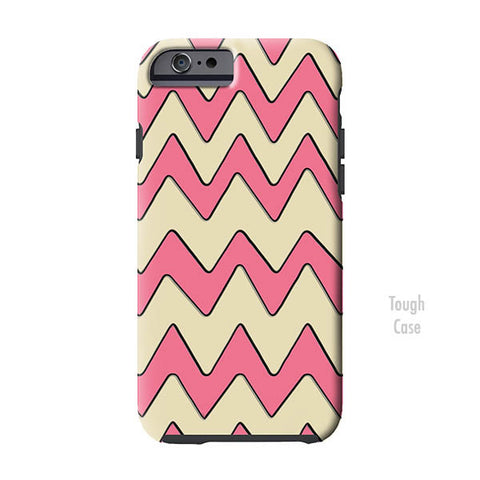 Vintage Pink Chevron iPhone Case