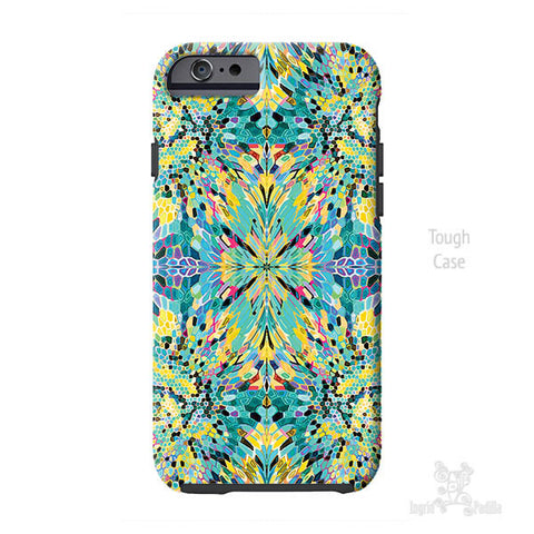 Wash Dot Blue iPhone Case - Art by Ingrid Padilla