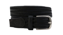 beltology back nine stretch leather elastic mission belt black braided dress