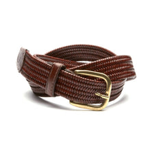 beltology back nine stretch leather elastic mission belt brown braided dress