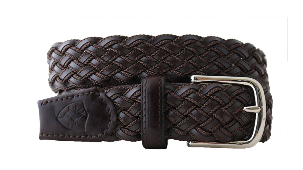 beltology back nine stretch leather elastic touch of modern mission belt brown braided dress
