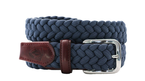 beltology back nine stretch leather elastic touch of modern mission belt navy braided dress