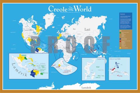 Map of the Creole-Speaking World