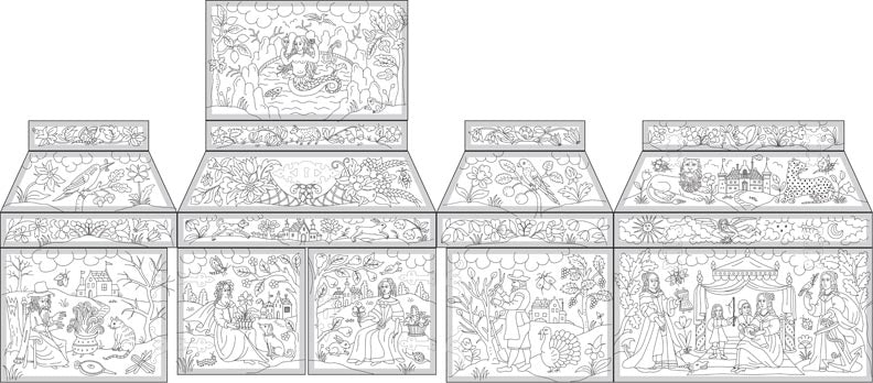 Double Casket with Four Seasons Design in Stumpwork Project Course