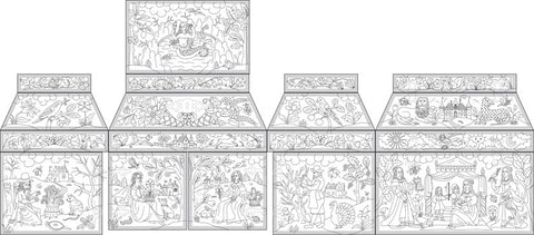 Double Casket with Four Seasons Design in Stumpwork Project Course (Available 2021)