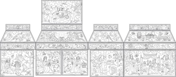 Double Casket with Four Seasons Design in Stumpwork Stitch Along (Already Own Casket)