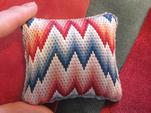 Flame Stitch Pincushion Needlework Nibble