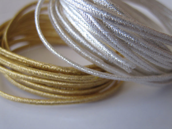 2 mm Gilt and Silver Plate Russia Braid - 1 Yard