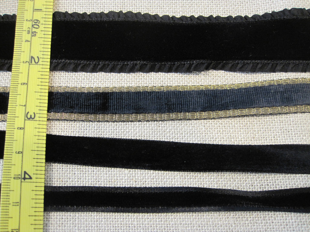 Black Velvet Ribbons - Sale
