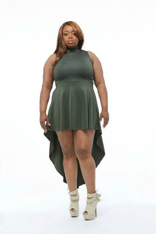 High Low Plus Size Dress