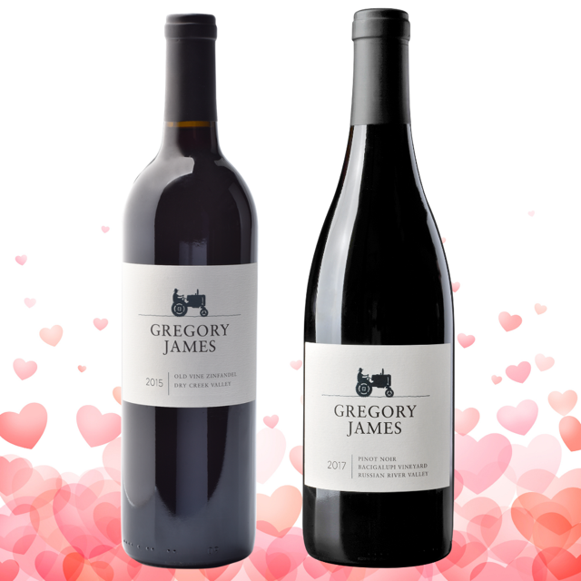 Valentine's Day 2 Bottle Red Package with Free Ground Shipping