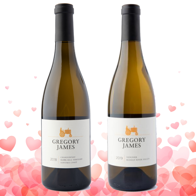 Valentine's Day 2 Bottle White Package with Free Ground Shipping
