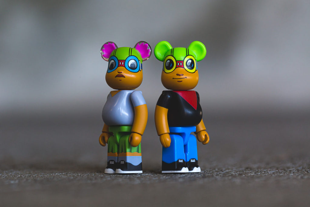 100% Flyboy and Li' Mama by Hebru x Medicom Toy x Bait